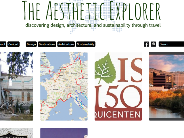 Aesthetic Explorer website